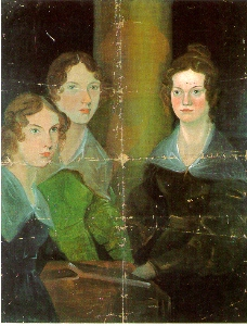 Painting of Anne, Emily, and Charlotte Bronte by Branwell Bronte
